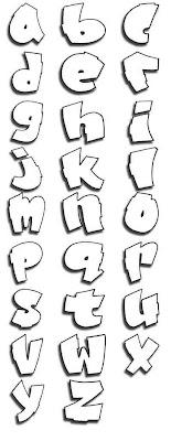 Alphabet Picture Font Graffiti