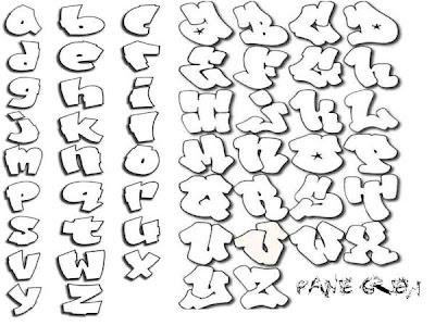 Alphabets Graffiti My Name