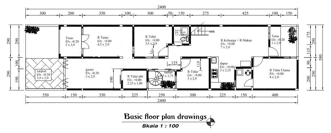 Simple House Floor Plan Drawing