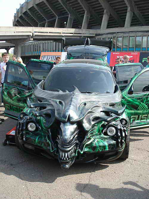 ... modified car show, they are obsessed with creating dragon-cars today