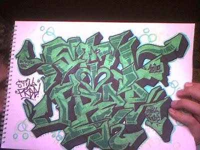 Cool graffiti style