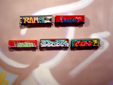 Create Graffiti Alphabet On Toy Train
