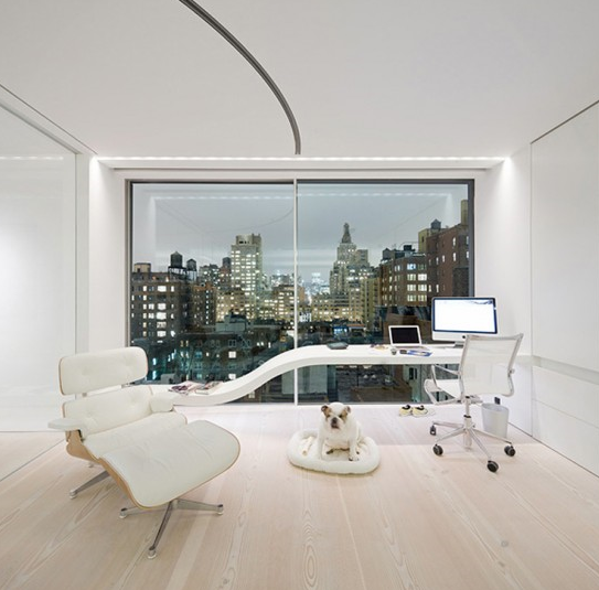 Minimalist interior apartment design loft by unstudio for Minimalist studio apartment interior design