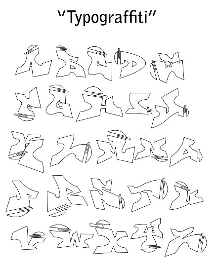 easy graffiti alphabet styles. Graffiti Alphabet Letters: