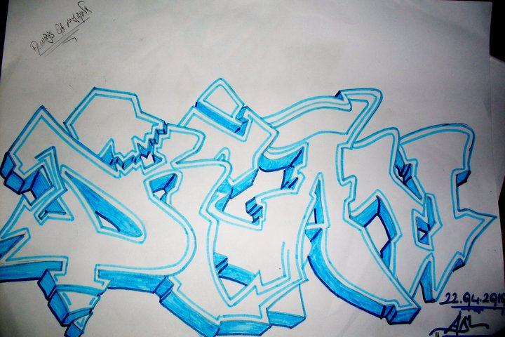 Graffiti sketches Blackbook