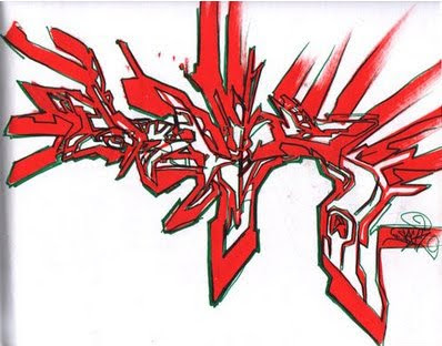 new graffiti: Red Graffiti Sketches