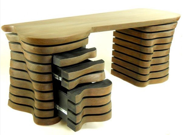 Wooden Desk Designs wood desk design wave