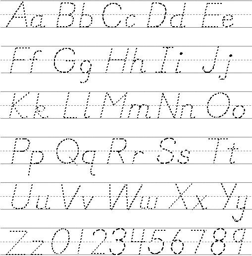 Graffiti Alphabet Letters A through Z Printouts