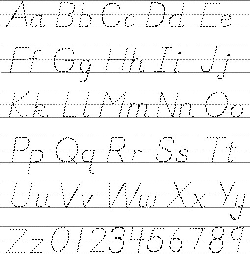 Pin alphabet tracing printouts pages on pinterest for Letter printouts