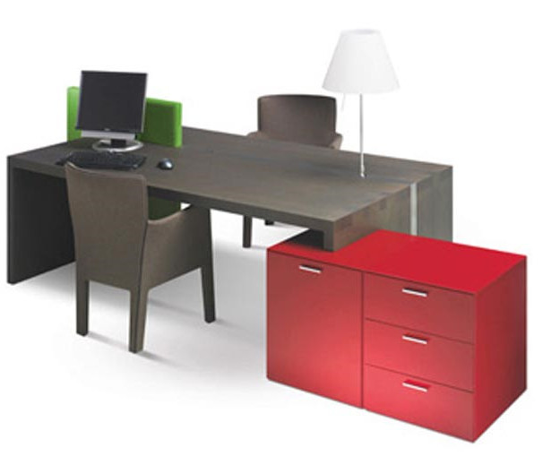 Office desk design is simple and modern design for Simple office design