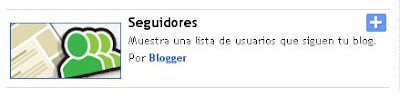 Gadget para Blogger: Seguidores del blog