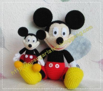 Patron gratis amigurumi Mickey Mouse - Imagui