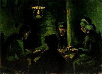 Quatre camperols menjant (Vincent van Gogh)