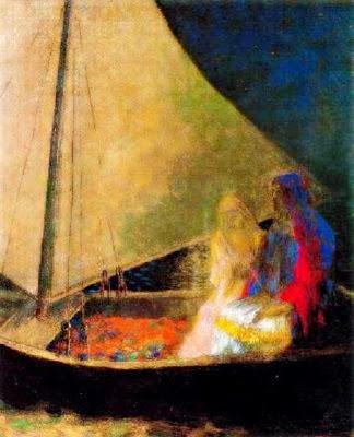 Dos amants en una barca (Odilon Redon)