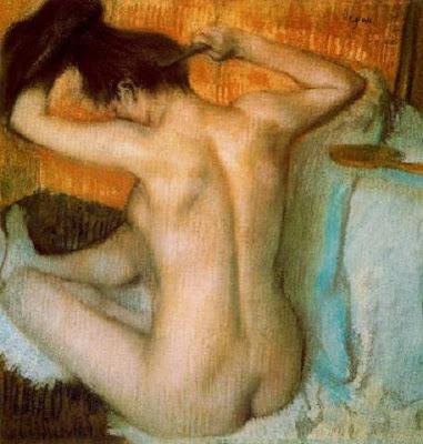 Dona pentinant-se el cabell (Edgar Degas)