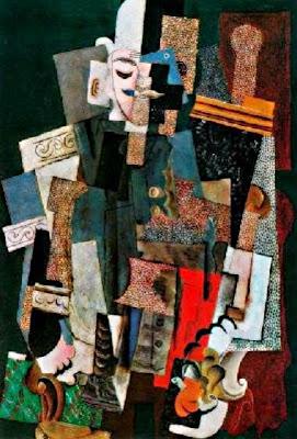 Home amb barret assegut en una butaca  (Home amb pipa) - Pablo Picasso