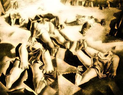 Dones estirades sobre la sorra (Salvador Dalí)