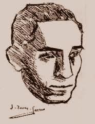 Retrat de J. Salvat-Papasseit fet per J. Torres-García