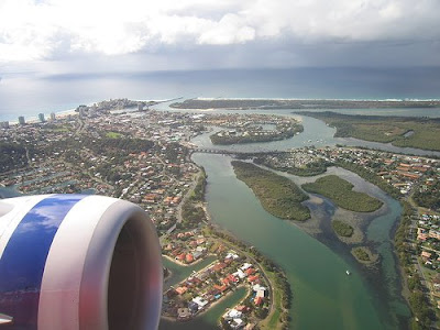 Photo of Coolangatta and TweedHeads, Australia, from the air