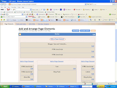 Add AdSense ad unit, link unit, searchbar, etc. to the blog Header