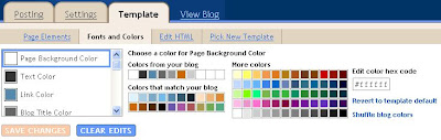 New Blogger: changing fonts and colors