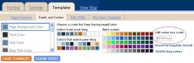 New Blogger change fonts and colors options