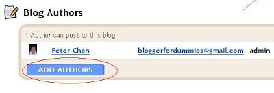 Blogger settings permission Add Authors