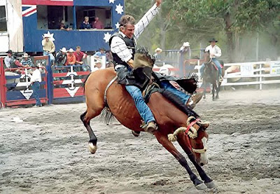 Rodeo show bucking horse