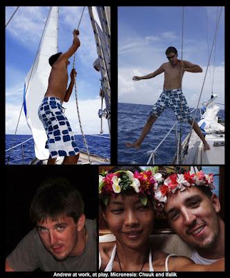 Crew sailing Micronesia