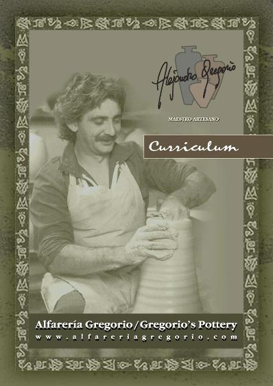 ALEJANDRO GREGORIO - TRAYECTORIA  - ALFARERÍA CERÁMICA - ARTE y ARTESANÍA