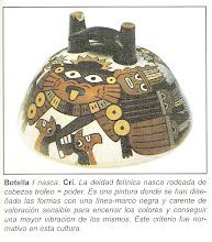 BOTELLA NASCA - DEIDAD FELINA
