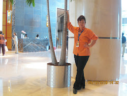 At the lobby of Intercontinental Hotel