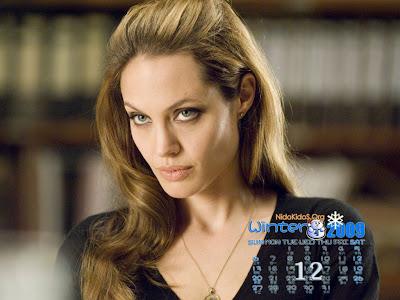 Angelina Jolie wallpapers 12 calendar 2009