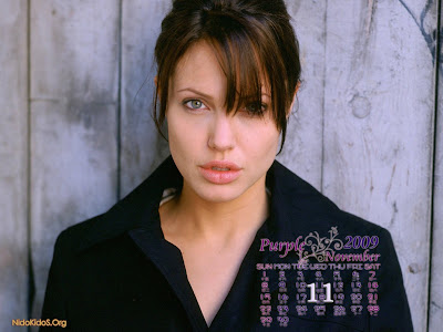 Angelina Jolie wallpapers 11 calendar 2009