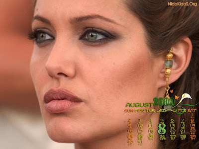 Angelina Jolie wallpapers 8 calendar 2009
