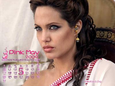 Angelina Jolie wallpapers 5 calendar 2009