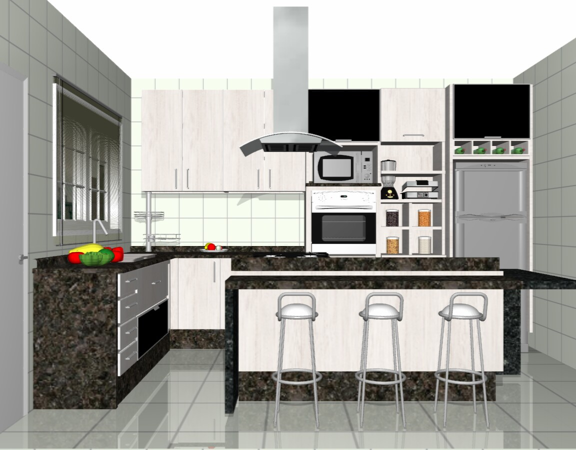 interior design cozinhas. Black Bedroom Furniture Sets. Home Design Ideas
