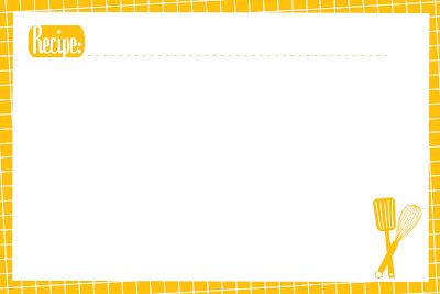 Recipe Cards - Sugar Bee Crafts