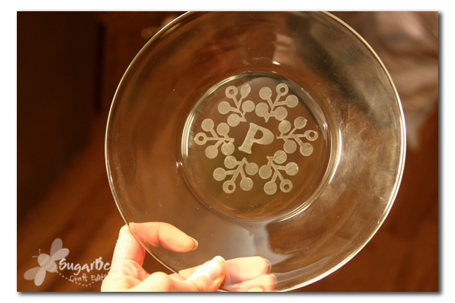 Glass Etched Plates Sugar Bee Crafts