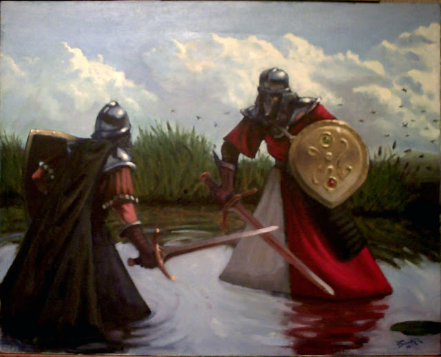 Dolobo oil painting, fantasy art, knights