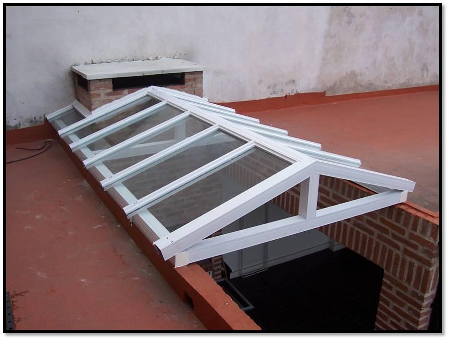Aluminios y maderas wk techo a dos aguas - Tejados de cristal ...