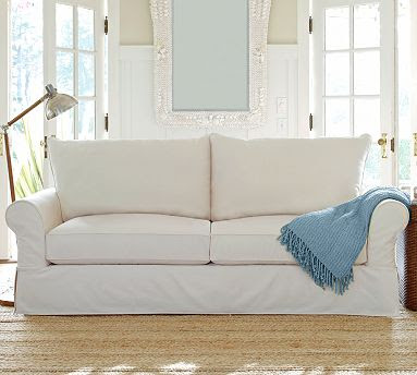 Creative Home Expressions Hooked On White Slipcovers