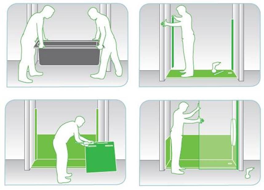 Ba o con ducha de la ba era a la ducha una peque a reforma for Partes de la regadera de bano