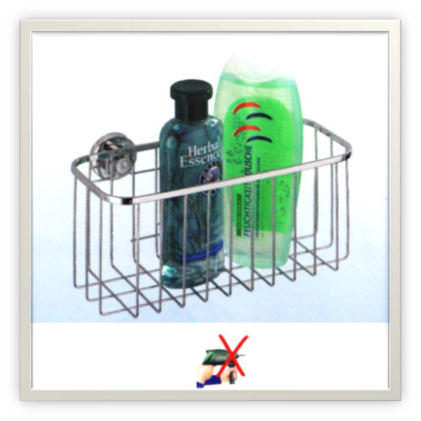 Soporte para ducha sin taladrar mesa para la cama for Perchas bano sin taladro