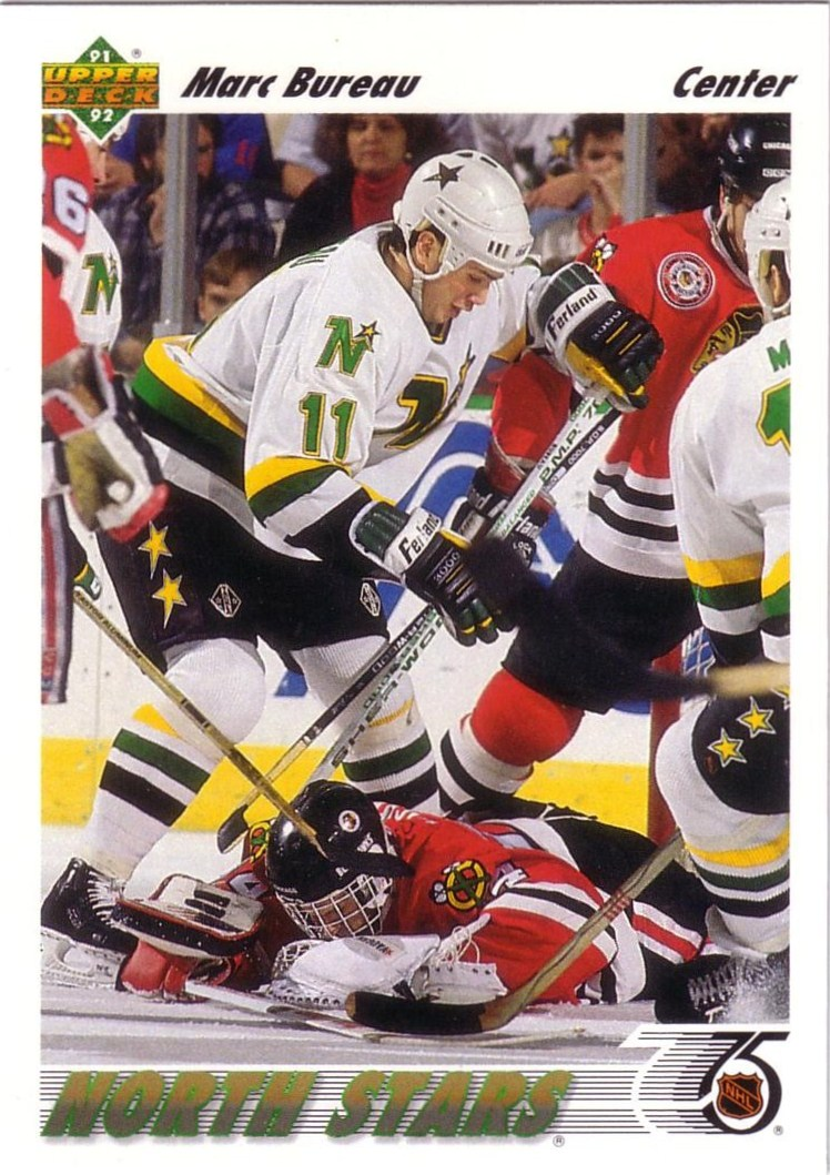 minnesota north stars cards 1991 92 upper deck 274 marc bureau. Black Bedroom Furniture Sets. Home Design Ideas
