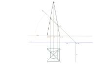 Secção produzida numa pirâmide por um plano de topo