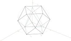 Axonometria Ortogonal de um Cuboctaedro