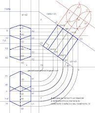Prisma hexagonal de bases de rampa