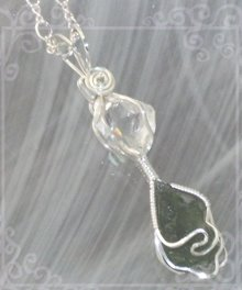 Herkimer Diamond & Moldavite