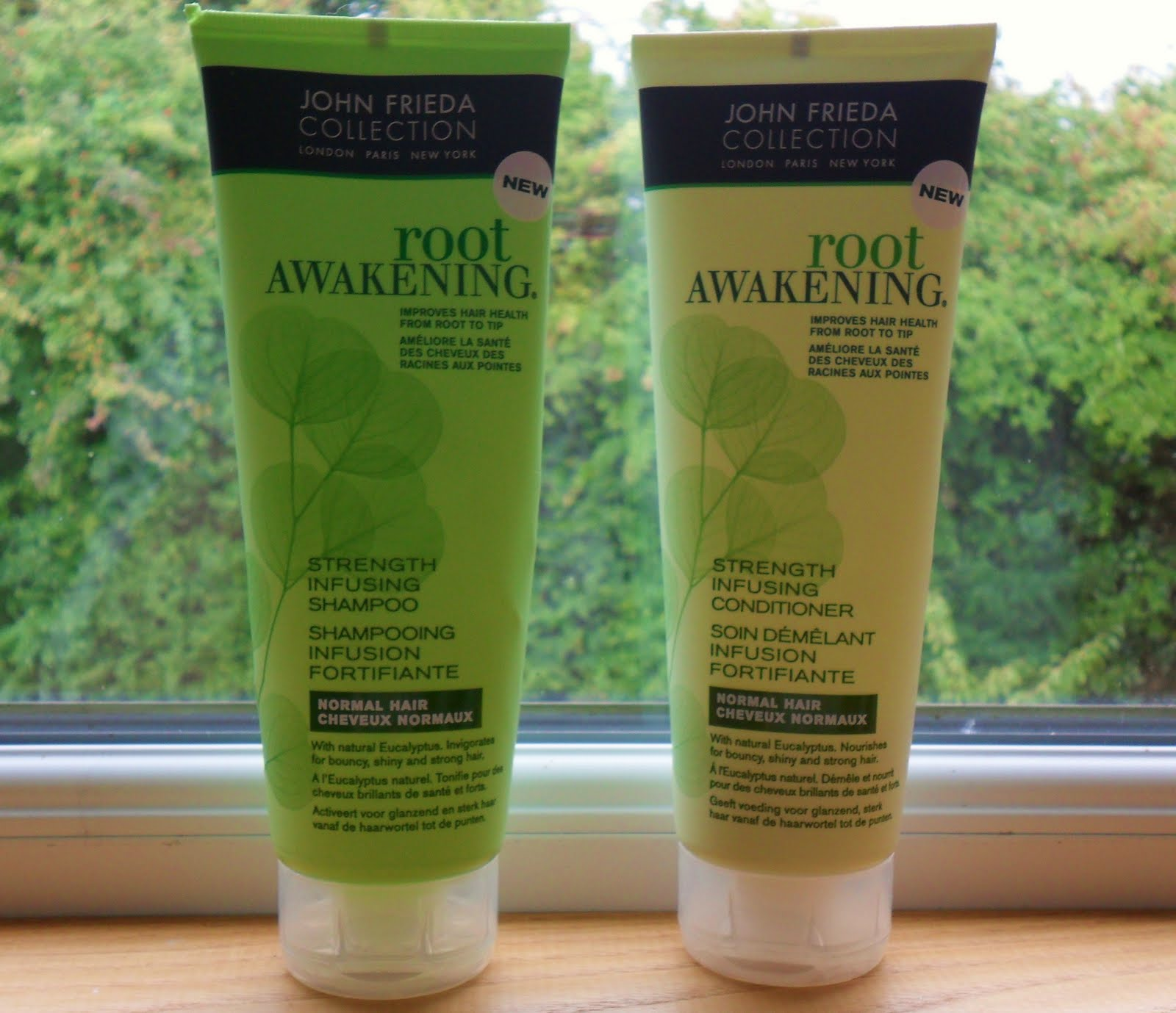 days of the polkadot girl john frieda root awakening shampoo conditioner. Black Bedroom Furniture Sets. Home Design Ideas